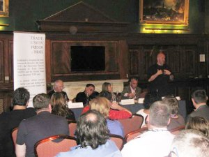 Terry McCorran speaking at UNISON fringe, Brighton 2009