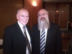 Brian Silvester and Rabbi David Singer