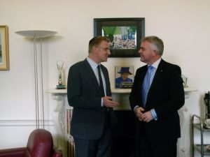 Amb taub and Jonathan Bell