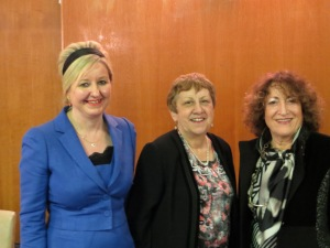 From l: Sandra Baillie, Deborah Weissman and Shoshana Appleton