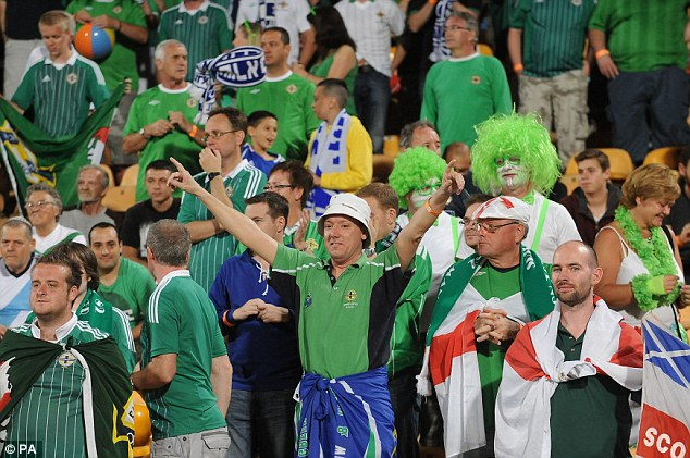 Northern Ireland fans in Tel Aviv