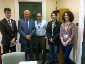 Trevor Lunn and students