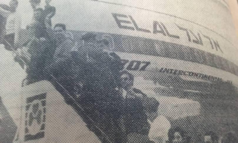 UK VOLUNTEERS BOARD PLANE 1967