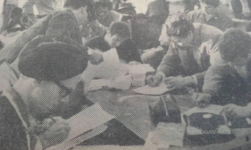 UK volunteers on arrival in Israel 1967