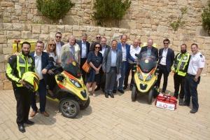 DUP Delegation MDA at Yad Vashem