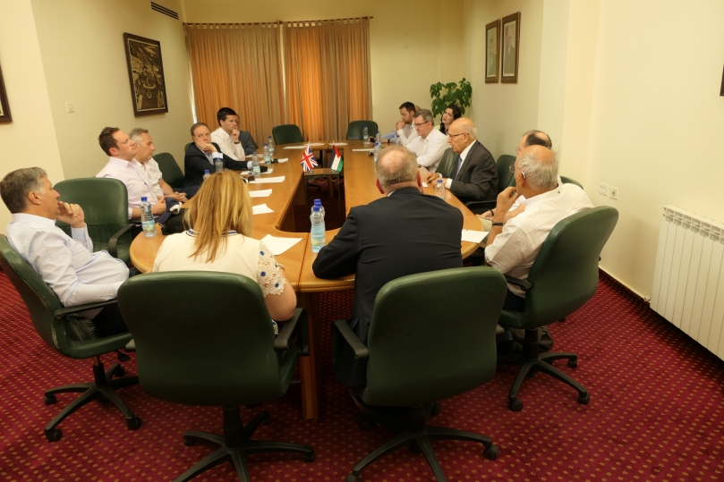 DUP delegation Ramallah
