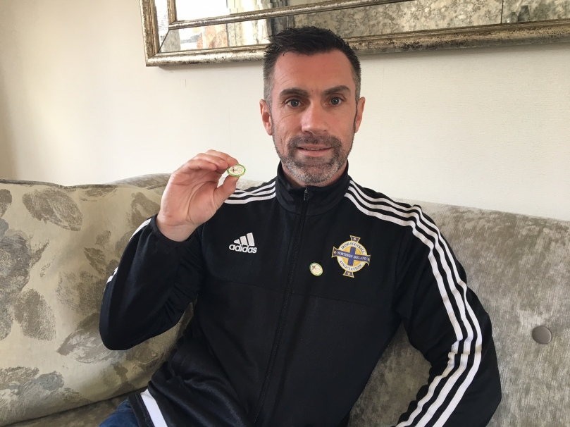 Keith Gillespie pin badge 2