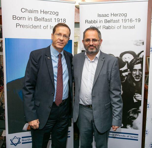 Isaac Herzog and Steven Jaffe Belfast 2018