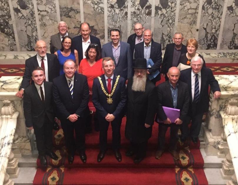 Belfast Jewish council city hall 2016