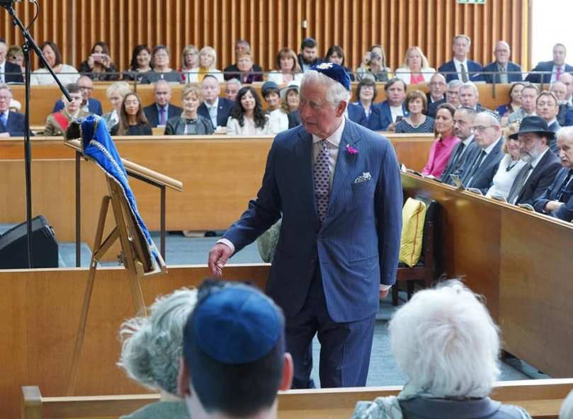charles unveiling belfast shul may 2019